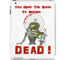 Zombie Cop iPad Case/Skin
