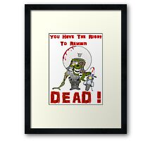 Zombie Cop Framed Print
