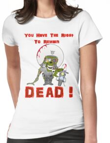 Zombie Cop Womens Fitted T-Shirt