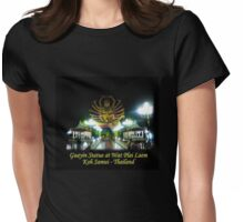 Guayin Statue - Koh Samui's Plai Laem Wat - night shot Womens Fitted T-Shirt