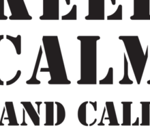 KEEP CALM AND CALL THE 506TH Sticker