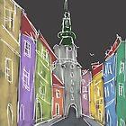 Dark street by ywanka
