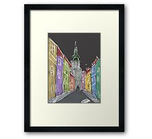 Dark street Framed Print