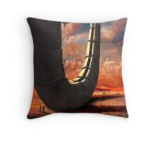 desert ruin Throw Pillow