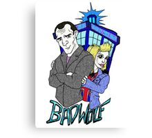 Ninth Doctor & Rose Canvas Print