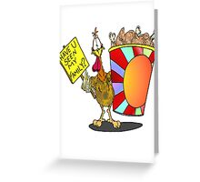 Chicken Family Bucket Greeting Card