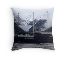 """Milford Sound New Zealand 5 - """"Milford Mariner"""" Throw Pillow"""