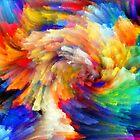 SPIRAL RAINBOW by WhiteDove Studio kj gordon
