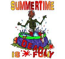 Zombie Summertime Fun Photographic Print