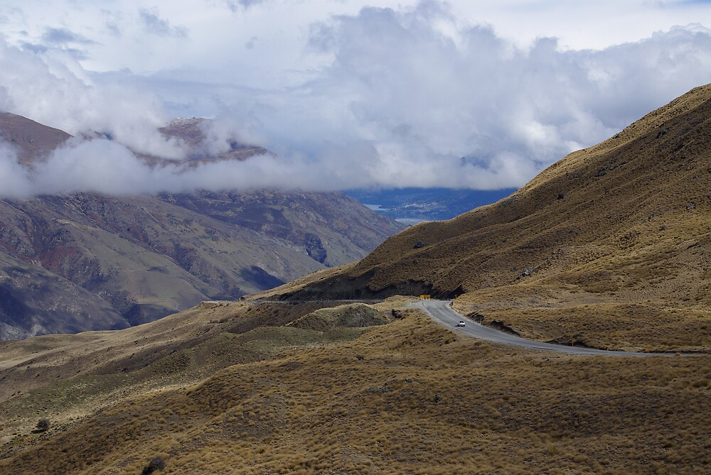 Lindis Pass, South Island, New Zealand by Geoff46