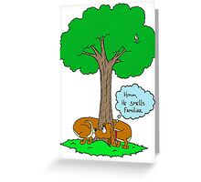 Dachshund Scent Greeting Card