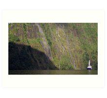 """Milford Mariner"" cruising on Milford Sound Art Print"