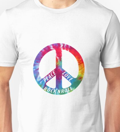 peace love rock and roll Unisex T-Shirt