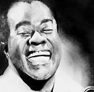 Portrait of Satchmo by Carrie Jackson