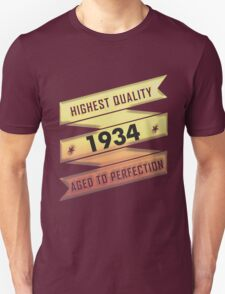 Highest Quality 1934 Aged To Perfection T-Shirt