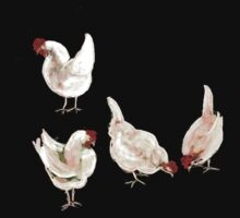 4 Chooks tshirt by ©   Elaine van Dyk