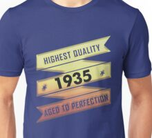 Highest Quality 1935 Aged To Perfection Unisex T-Shirt