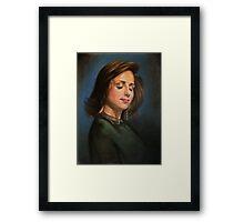 portrait of Katia Guerreiro Framed Print