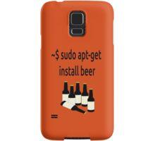 Linux sudo apt-get install beer Samsung Galaxy Case/Skin