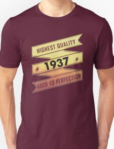 Highest Quality 1937 Aged To Perfection T-Shirt