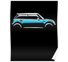 MINI CAR, BLUE, BMW, BRITISH ICON, MOTORCAR Poster