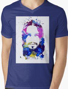 Jesus Christ - Watercolor Mens V-Neck T-Shirt