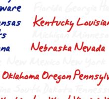 50 States Sticker
