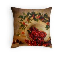 Christmassy still life Throw Pillow