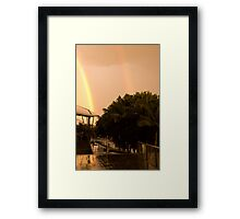 Double Rainbow Framed Print