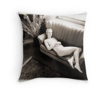 reclining nude Throw Pillow