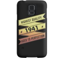 Highest Quality 1941 Aged To Perfection Samsung Galaxy Case/Skin