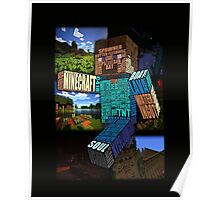 Minecraft Steve Typograpghy Poster