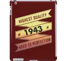 Highest Quality 1942 Aged To Perfection iPad Case/Skin