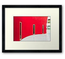White and red Framed Print