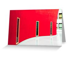 White and red Greeting Card