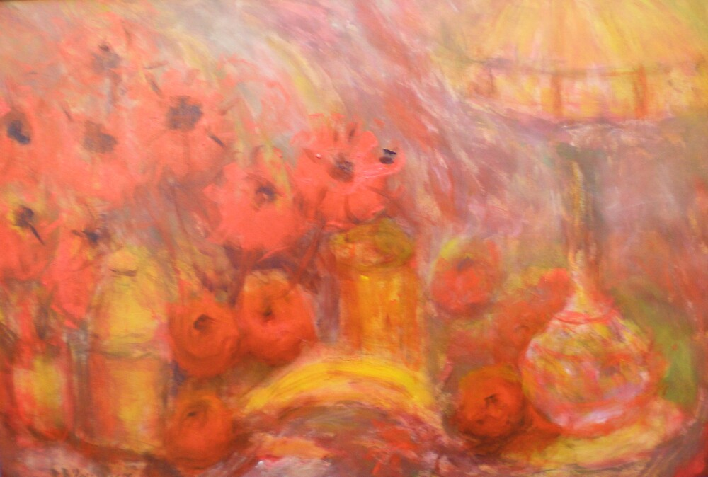Theme on Red by David Hinchliffe