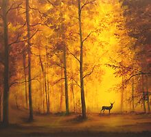 Autumn Deer by William  Boyer