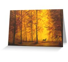 Autumn Deer Greeting Card