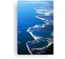 Finland Seashore from the air Canvas Print