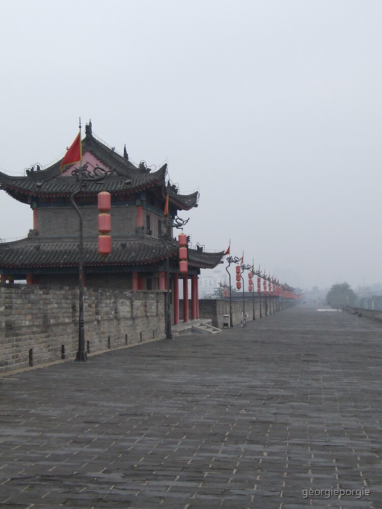 City Wall in Xian by georgieporgie