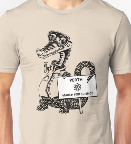 March for Science Perth – Crocodile, black Unisex T-Shirt