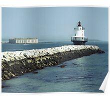 Spine Point Ledge lighthouse Poster
