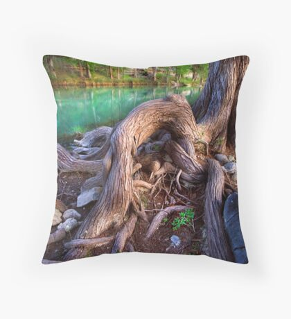 Cypress Roots Throw Pillow