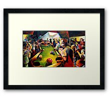 Shooting at Cans Framed Print
