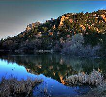 Dawn on Prescott Lake by Wayne King
