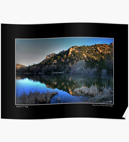 Dawn on Prescott Lake Fine Art Poster Poster