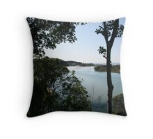 Retirement - Down by the riverside - Maybe.  Throw Pillow