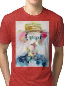 JAMES JOYCE - watercolor portrait Tri-blend T-Shirt