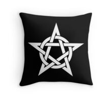 Pentangle - Pentagram - Plain Throw Pillow