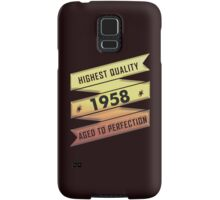 Highest Quality 1958 Aged To Perfection Samsung Galaxy Case/Skin